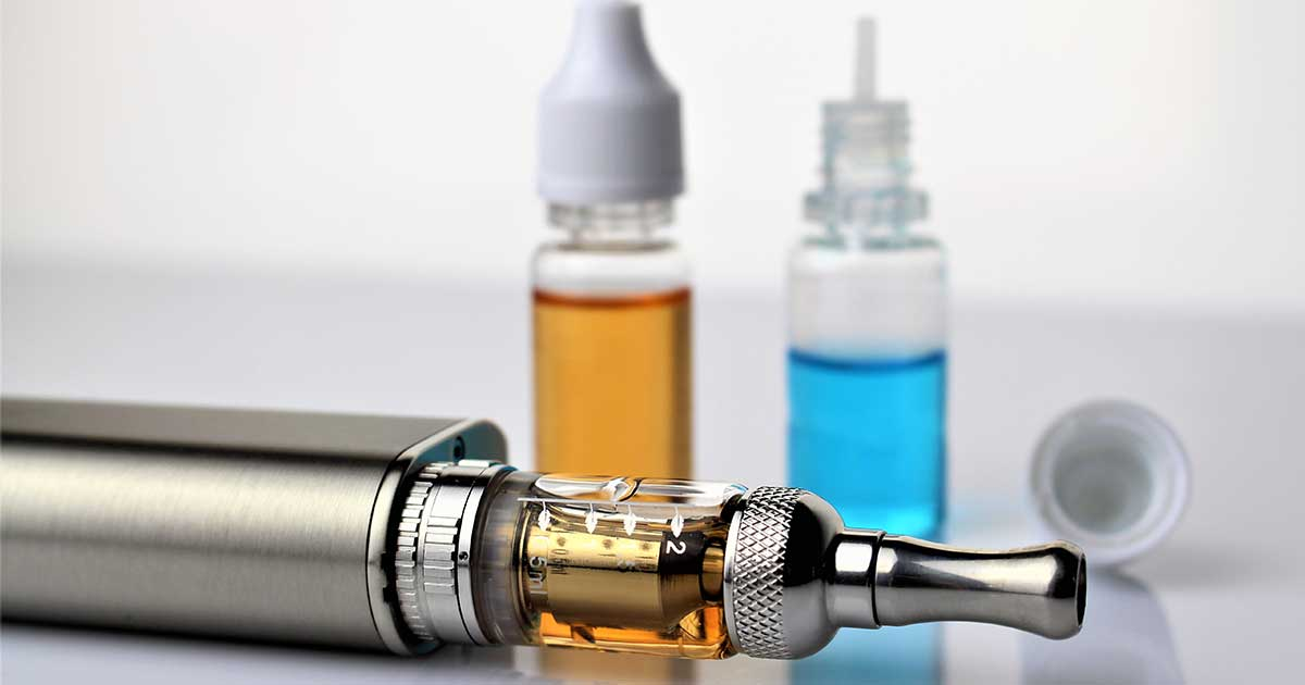 an electronic cigarette with nicotine, one of the things that makes vaping addictive