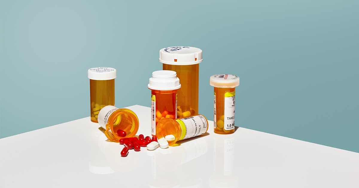 various bottles of prescription drugs